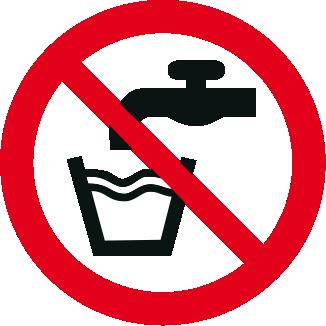 Vietato bere acqua, non potabile