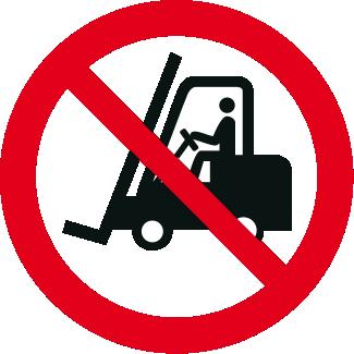 Vietato l'accesso ai carrelli elevatori e altri veicoli industriali