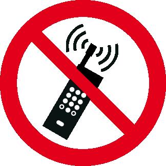 Vietato tenere i telefoni mobili accesi