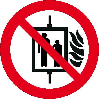 Vietato l'uso dell'ascensore in caso d'incendio