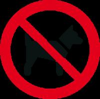 Vietato l'accesso ai cani