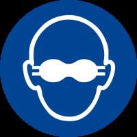 Obbligatorio indossare gli occhiali con lenti opache