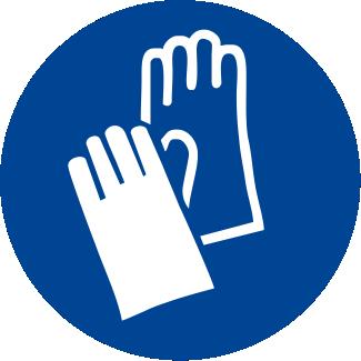 Obbligatorio indossare i guanti protettivi