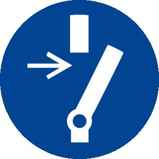 Obbligatorio disconnettere il macchinario prima di effettuare manutenzioni o riparazioni