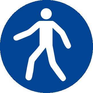 Obbligatorio utilizzare il percorso pedonale