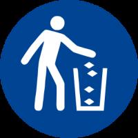 Obbligatorio usare il cestino