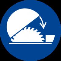 Obbligatorio usare il riparo regolabile della sega