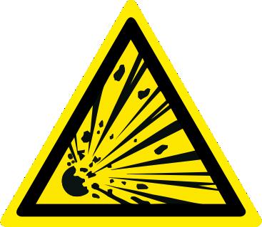 Pericolo materiale esplosivo