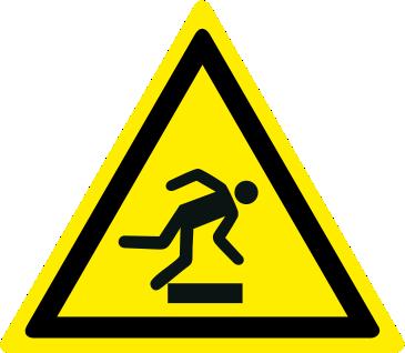 Pericolo ostacolo in basso