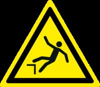 Pericolo di caduta con dislivello