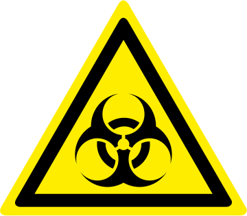 Pericolo rischio biologico