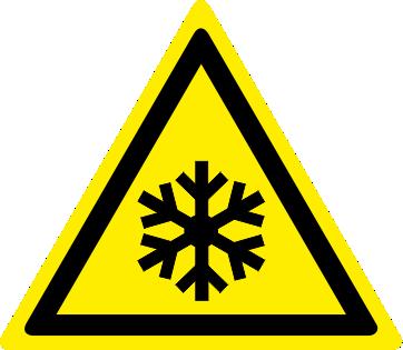 Pericolo bassa temperatura condizioni di congelamento