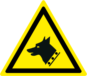 Pericolo cane da guardia