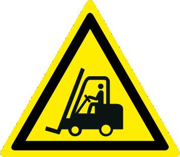 Pericolo carrelli elevatori ed altri veicoli industriali