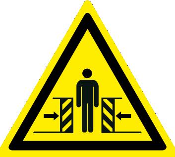 Pericolo di schiacciamento