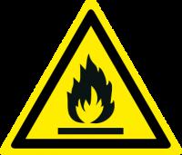 Pericolo materiale infiammabile