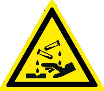 Pericolo sostanze corrosive