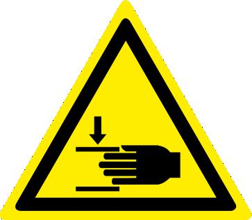 Pericolo di schiacciamento mani