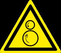 Attenzione rulli rotanti/pericolo di trascinamento
