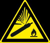 Pericolo bombole in pressione