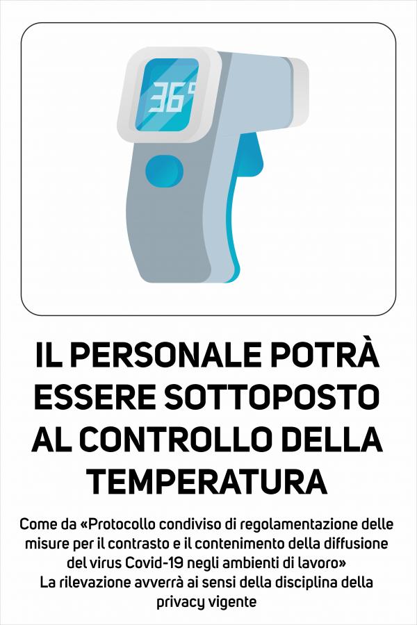 Cartello Controllo Temperatura